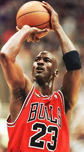 Michael Jordan Shooting a Free Throw